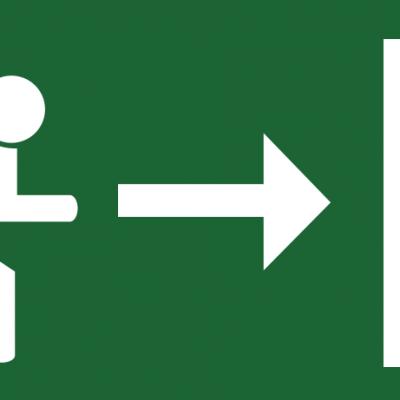 Smer evakuacije Brez Roba