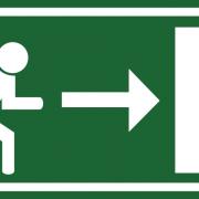 Smer evakuacije z robom